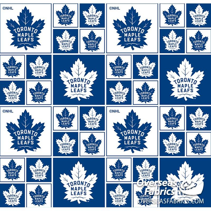 NHL Quilting Cotton - Toronto Maple Leafs