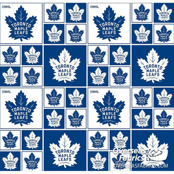 *PRE-ORDER August 2020* NHL Quilting Cotton - Toronto Maple Leafs