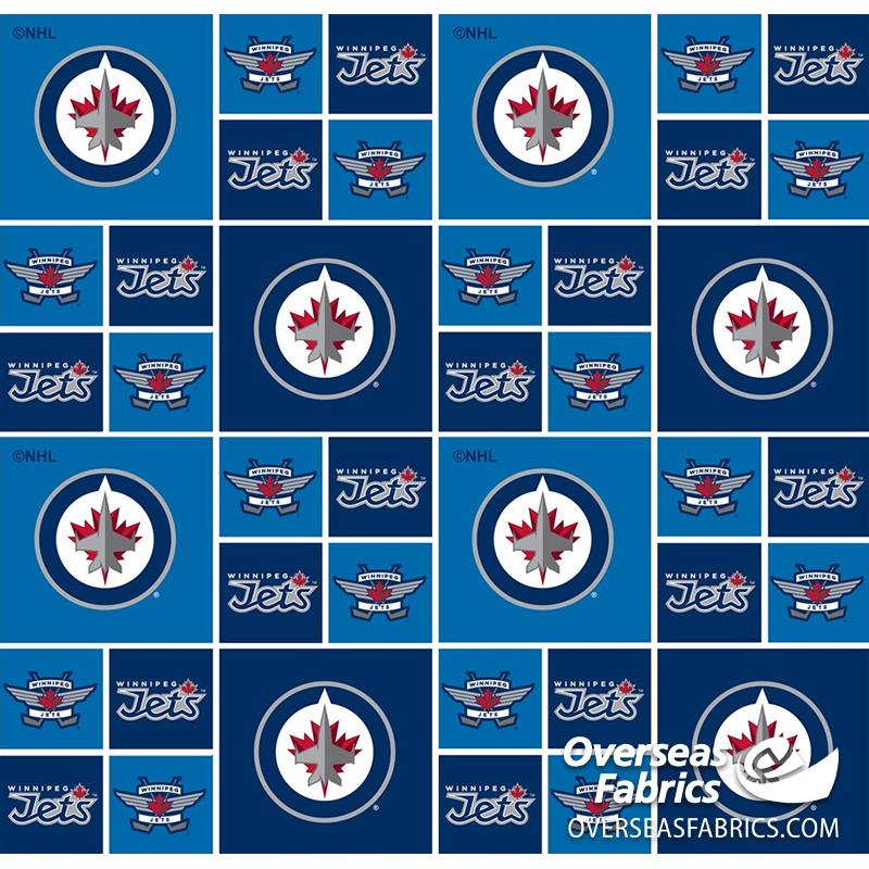 NHL Quilting Cotton - Winnipeg Jets