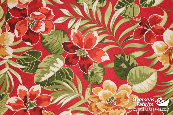 "Bryant Outdoor Fabric 54"" - Lauderdale, Cherry"