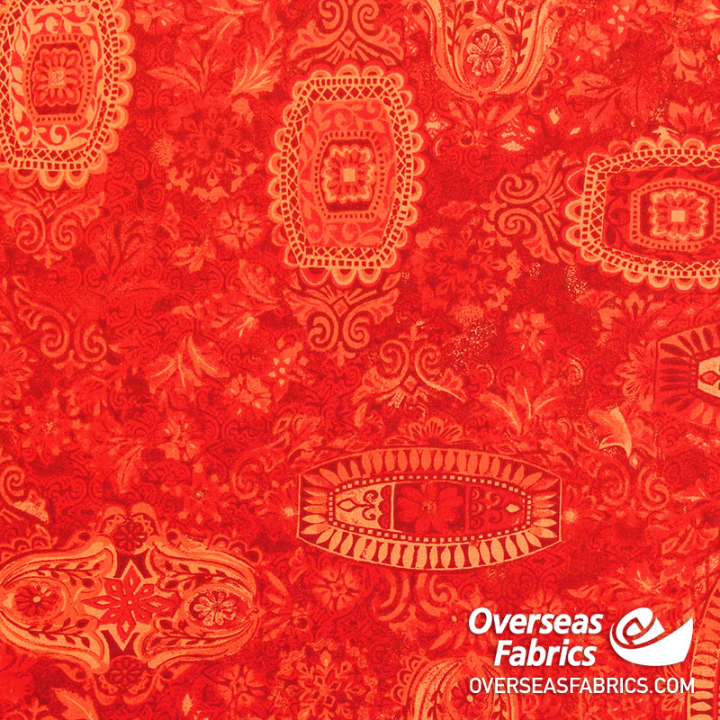 Polynesian Floral, Red