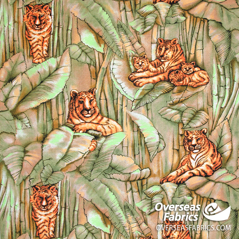 Print Concepts - Jungle Fever, Tiger King Olive
