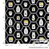 QT Fabrics - All the Buzz, Honey Jars, Black