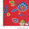 QT Fabrics - Beaded Blooms, Red