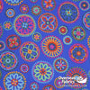 QT Fabrics - Beaded Medallions, Blue