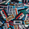 QT Fabrics - Good Vibrations, Cassettes, Teal
