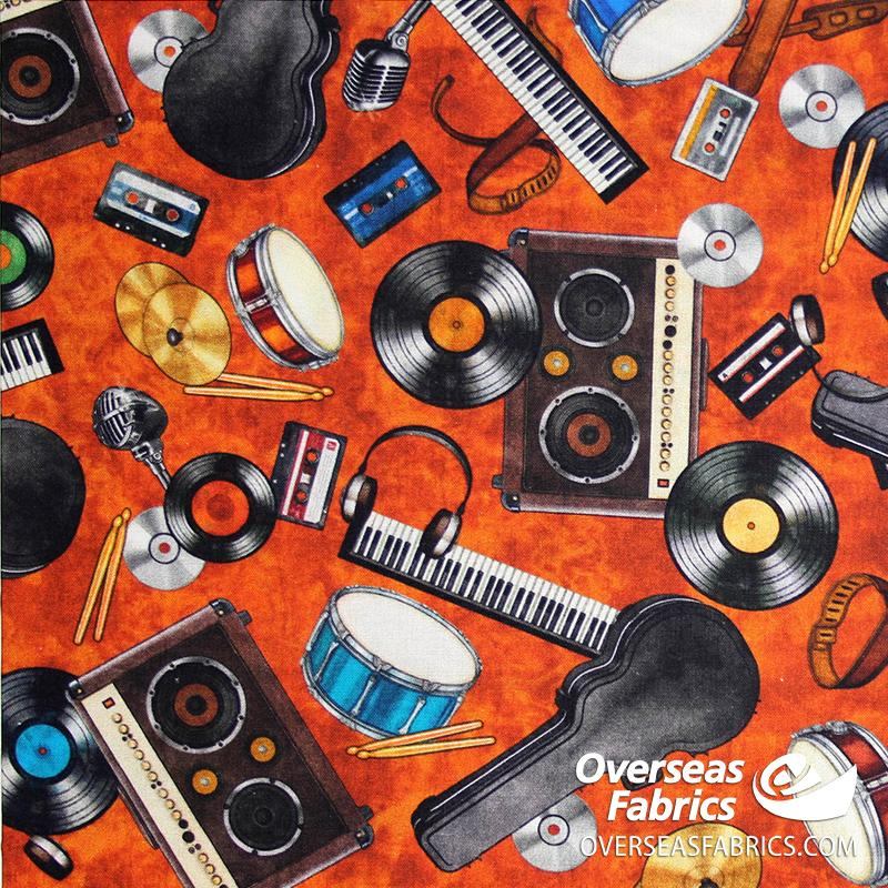 QT Fabrics - Good Vibrations, Rock On, Rust