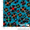 QT Fabrics - Good Vibrations, Vinyl, Teal