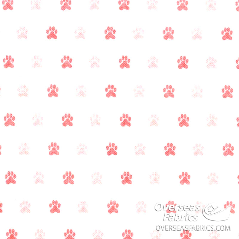 Riley Blake - Meow and Forever, Cat Pawprints, White