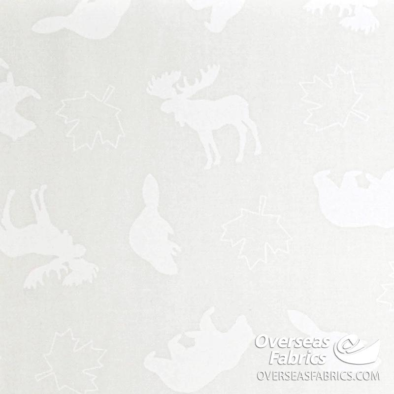 Robert Kaufman - Discover Canada 2, Tone-on-Tone Animals, White