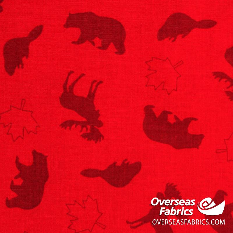 Robert Kaufman - Discover Canada 2, Tone-on-Tone Animals, Red