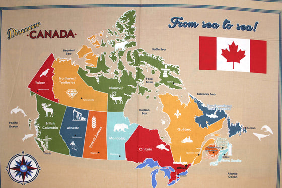 Robert Kaufman - Discover Canada, Canada Map Panel