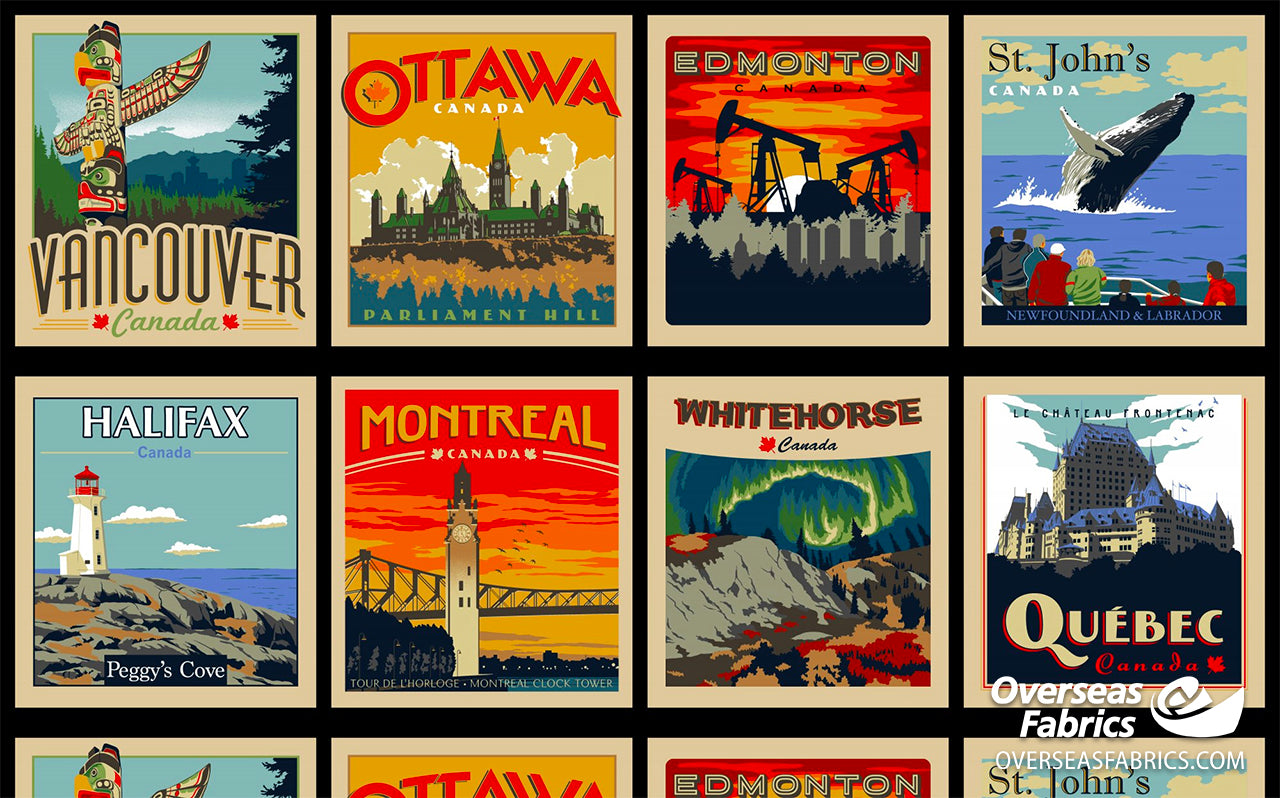 Robert Kaufman - Discover Canada, City Postcards Panel