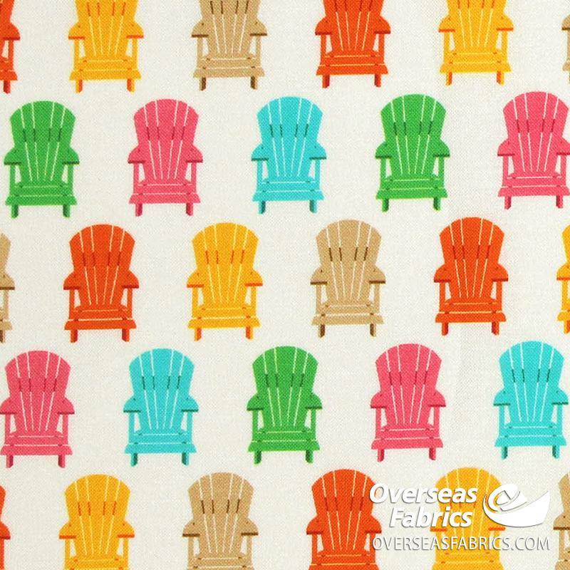 Robert Kaufman - Purely Canadian Eh Summer BBQ, Adirondack Chairs