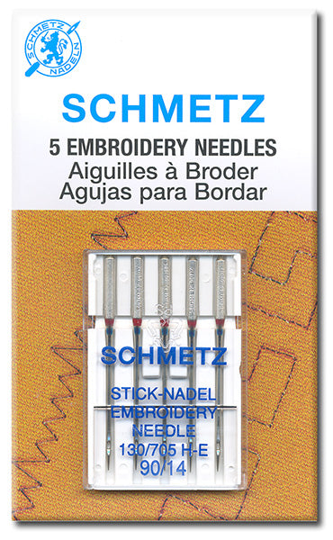 Schmetz - Embroidery Needles, Size 90/14