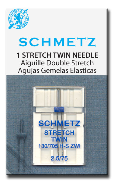Schmetz - Stretch Twin Needles, Size 75/4.0