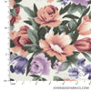 "Sheeting Poly-Cotton 90"" - Rose Garden, Ivory"