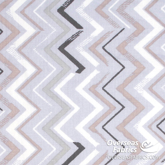 100% Sheeting Cotton - Chevron, Periwinkle