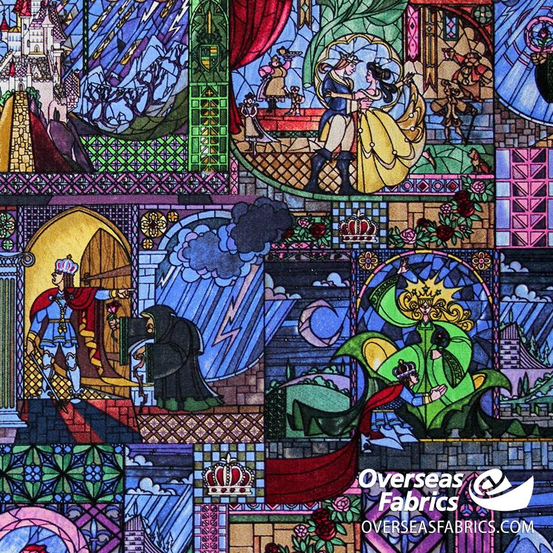 Springs Creative - Disney, Beauty and the Beast, Stain Glass Squares