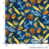 Windham Fabrics - Fresh Catch, Sealife, Blue
