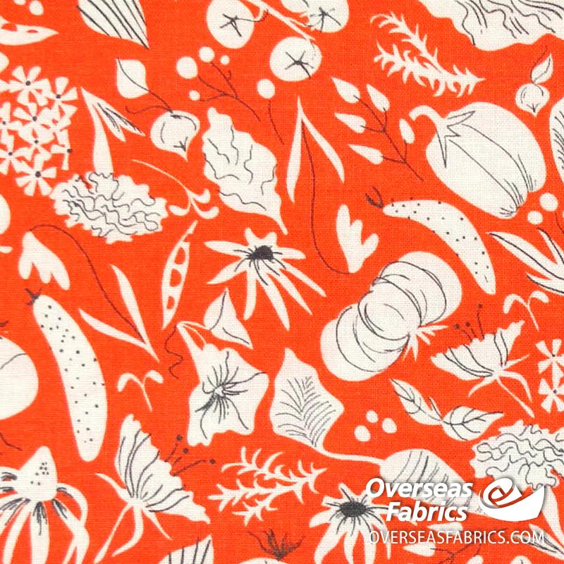 Windham Fabrics - Mazy, Vegetables, Orange