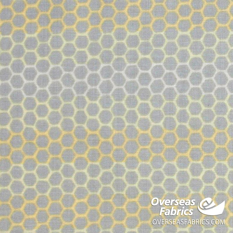 Windham Fabrics - Tell the Bees, Honeycomb, Grey