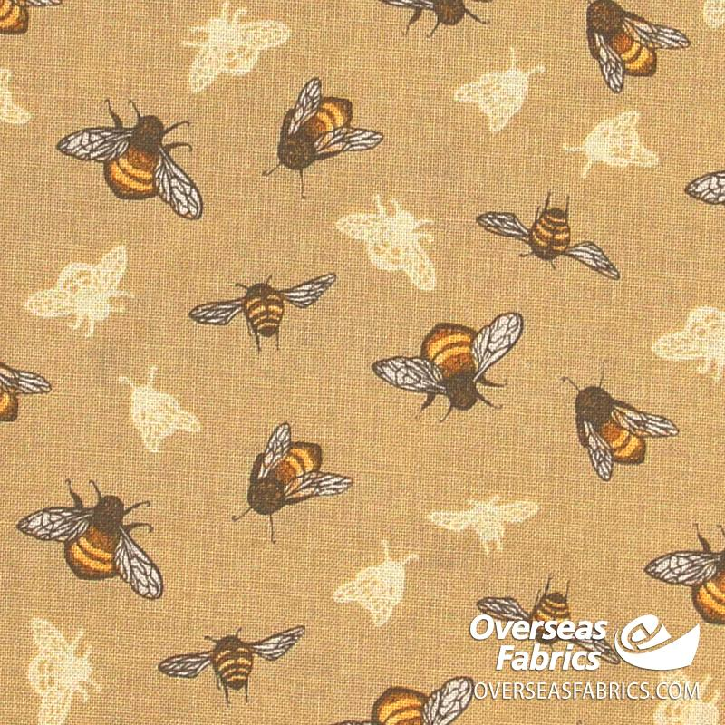 Windham Fabrics - Tell the Bees, The Bumblebee, Yellow
