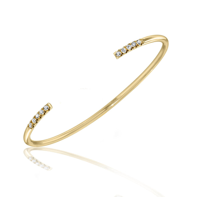 Pave Diamond Wire Cuff