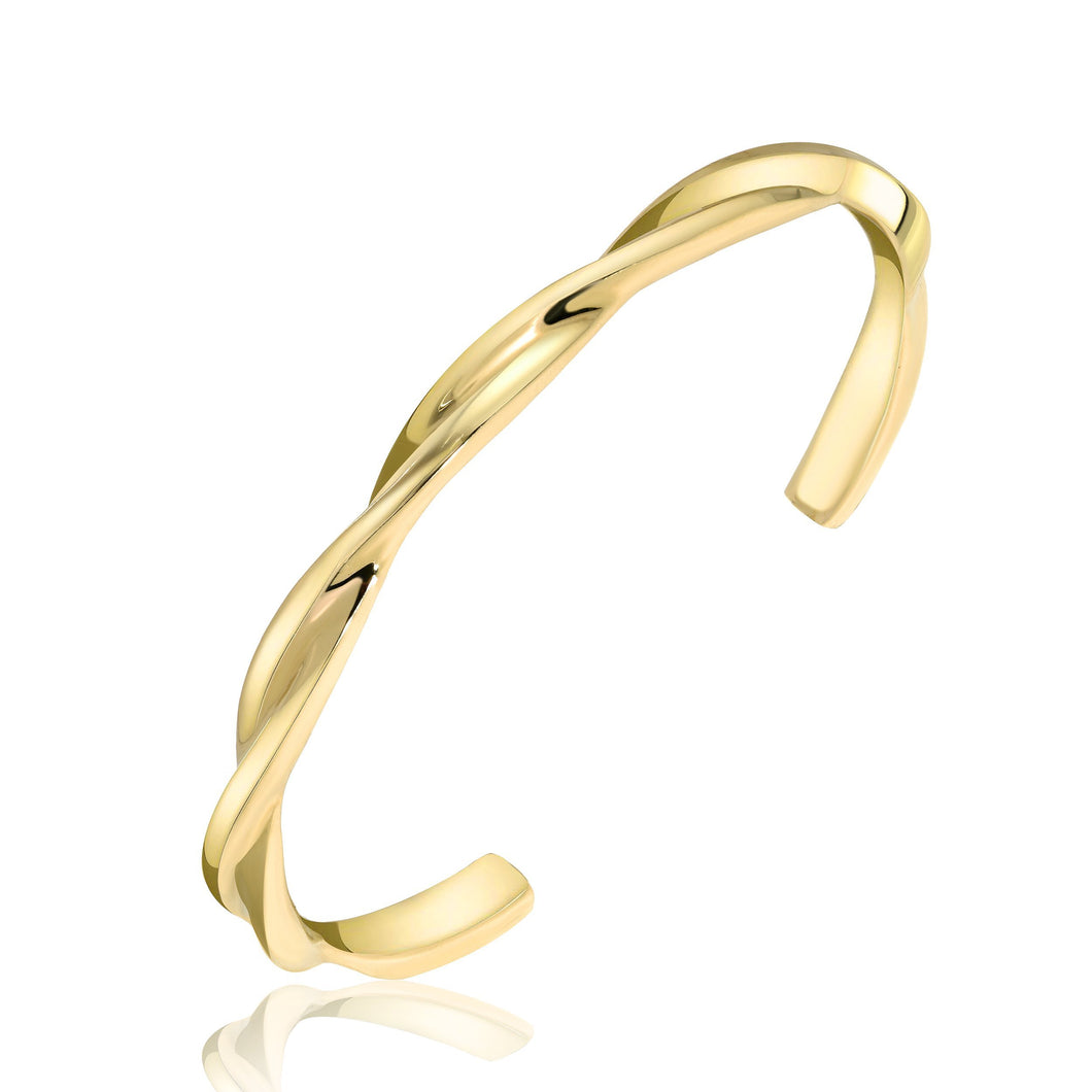 Twist of Fate Gold Cuff