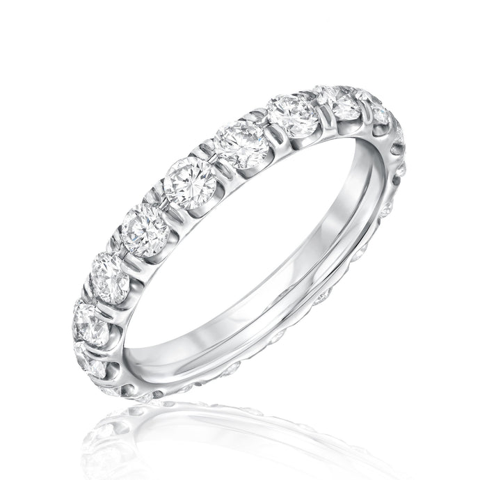 Split Prong Diamond Eternity Band