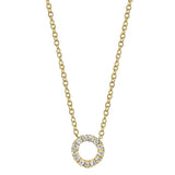 Mini Circle Pendant with Diamonds