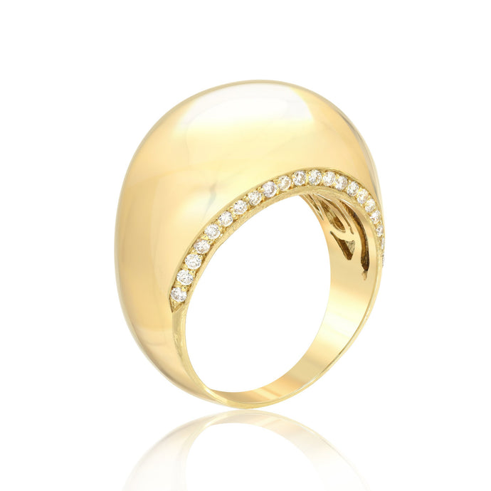 Diamond Outline Dome Ring