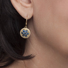 Sapphire Forget Me Not Drop Earrings