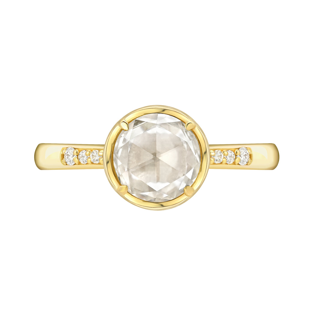 Rose Cut Diamond Bezel