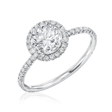 Halo Ring with Pave Band