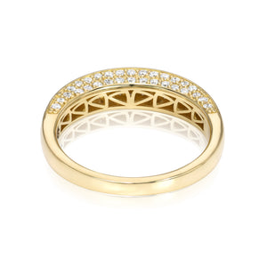 Arc Ring with Champagne Diamonds