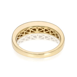 Thin Dome Ring with Top Champagne Diamonds