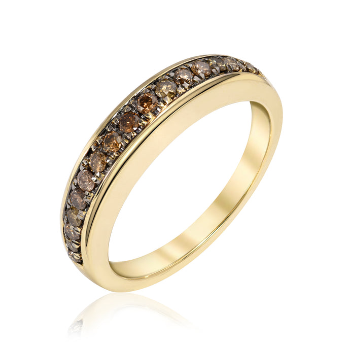 Arc Ring with Top Champagne Diamonds