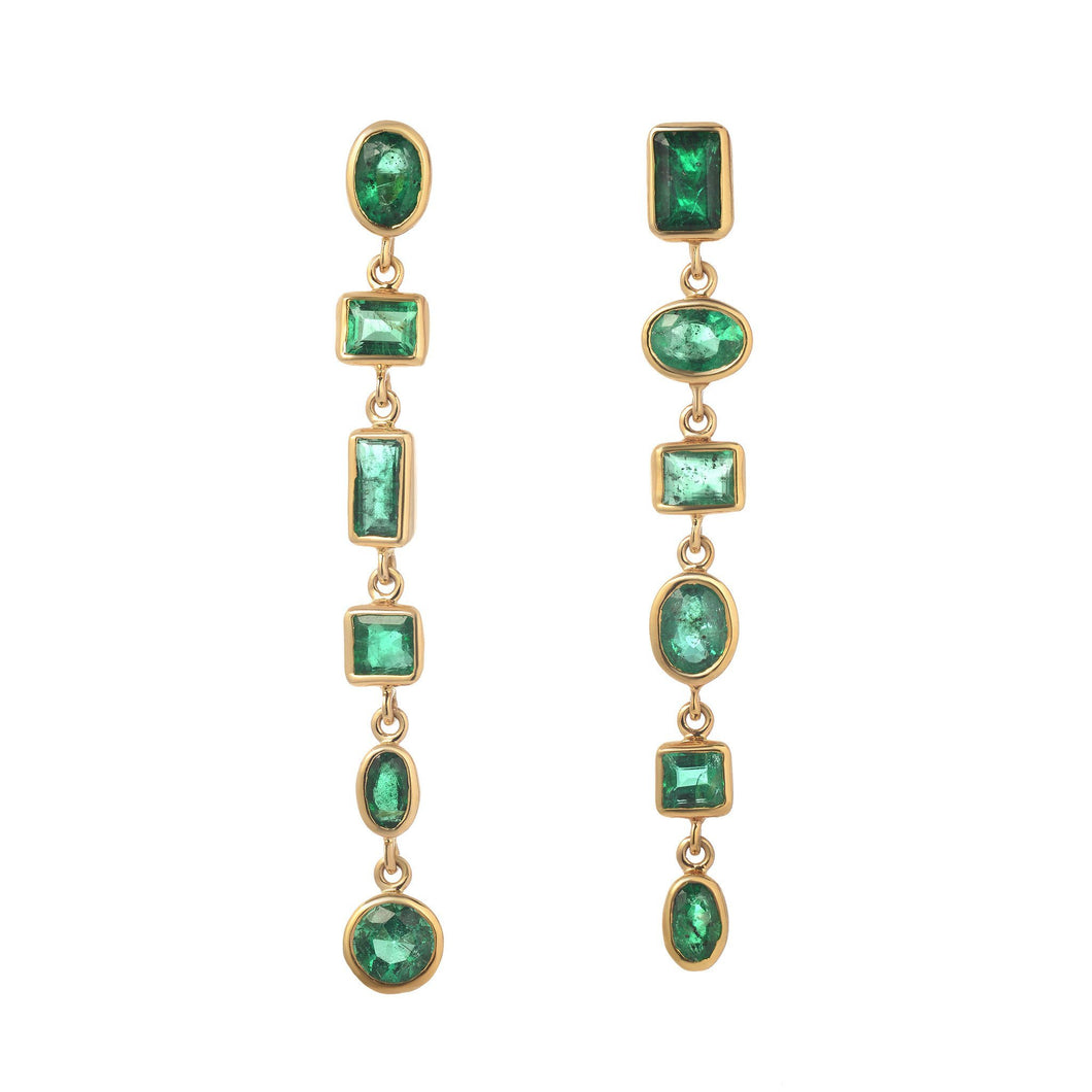 Emerald Mini Glam Earrings