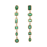 Emerald Mismatched Mini Glam Earrings