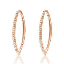 Marquise Hoops with Diamonds