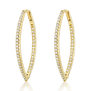 Marquise Hoops with Diamonds Inside and Out