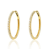 One Inch Diamond Hoops
