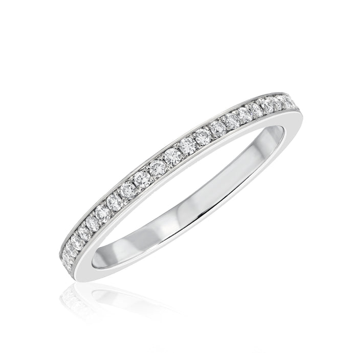Pave Diamond Eternity Band - 2 mm