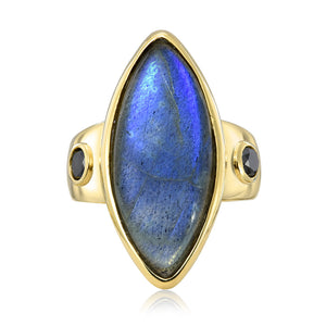 Labradorite Noble Ring