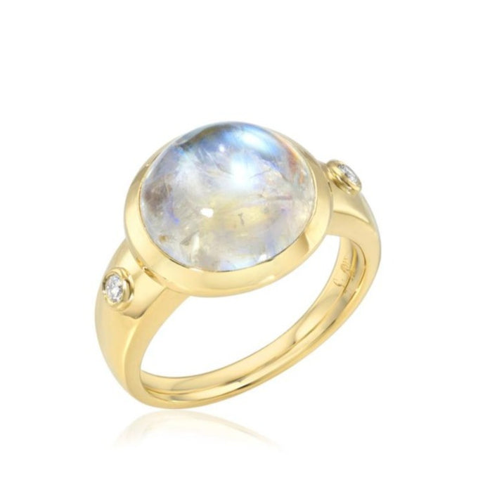 Moonstone Mood Ring - 12 mm round