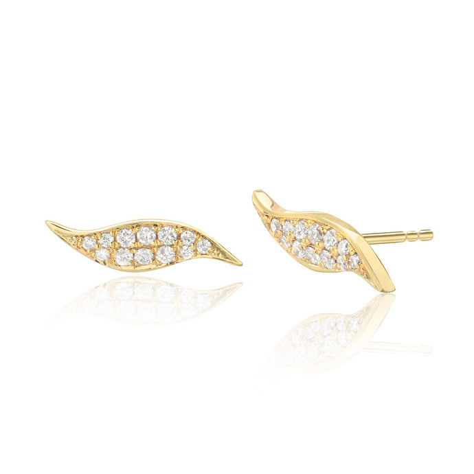 Flame Studs with Diamonds