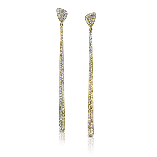 Elongated Diamond Teardrop and Petal Earrings