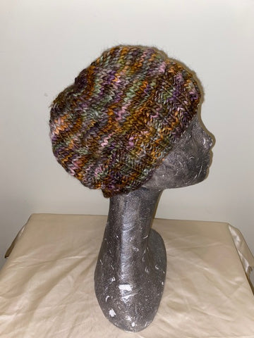 Knitted hat with Potpourri wool