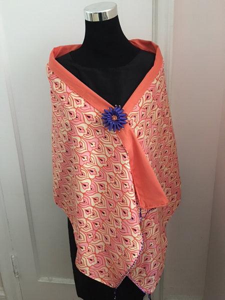 Woman's Orange Shawl